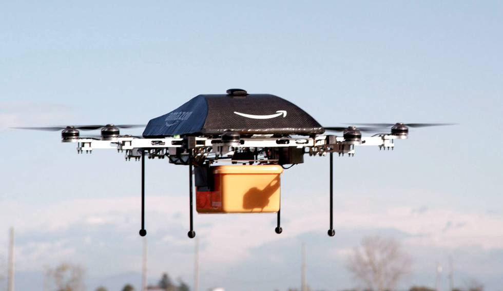 Amazon is issued patent for delivery drones that can react to screaming voices, flailing arm